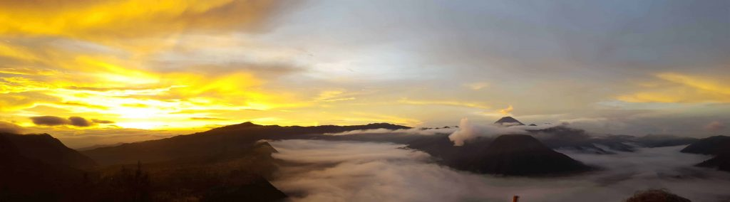 Mount Bromo panorama sunrise viewpoint