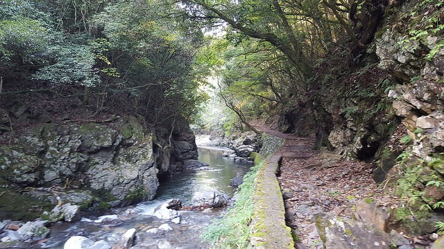 Western Kyoto trail through Kiyotaki river