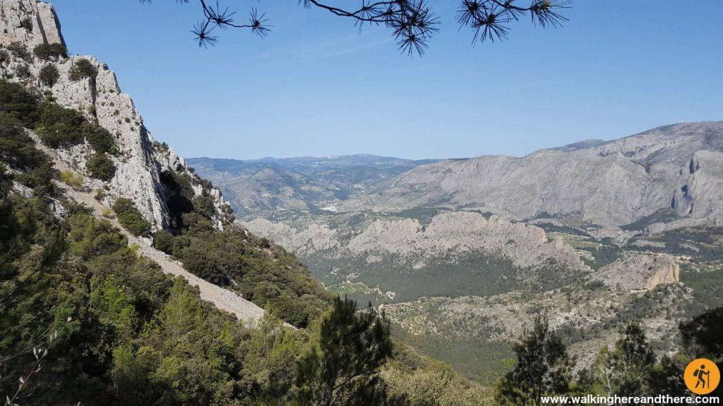 Way up to Puig Campana