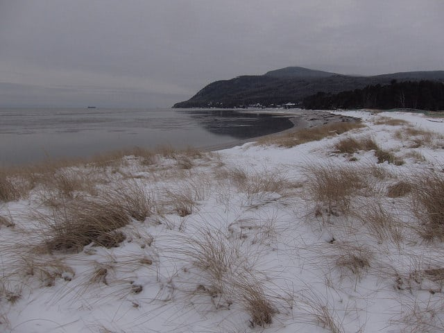 Charlevoix winter beach at Quebec