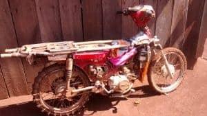 Motorbike used to go uphill