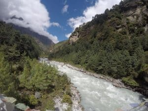 Dudh Koshi River as the co trekker