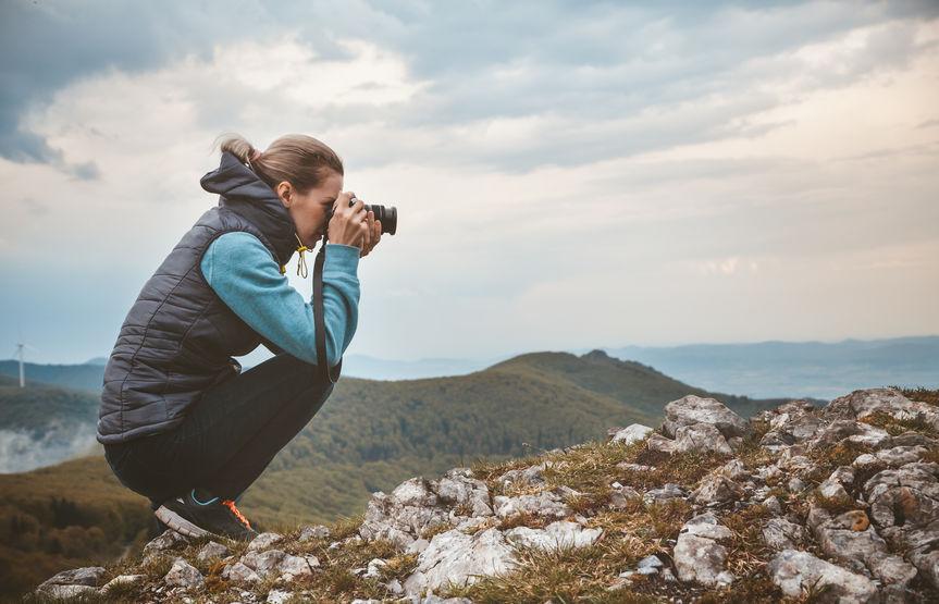 Material de fotografía de montaña
