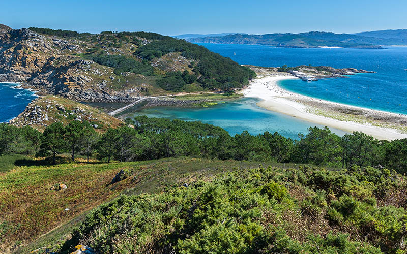 Atlantic Islands of Galicia national park of spain