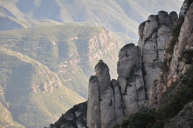 the Natural Park of the Montserrat Mountain