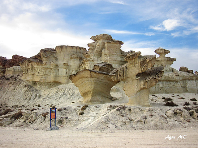 Enchanted city of Bolnuevo for hiking with children