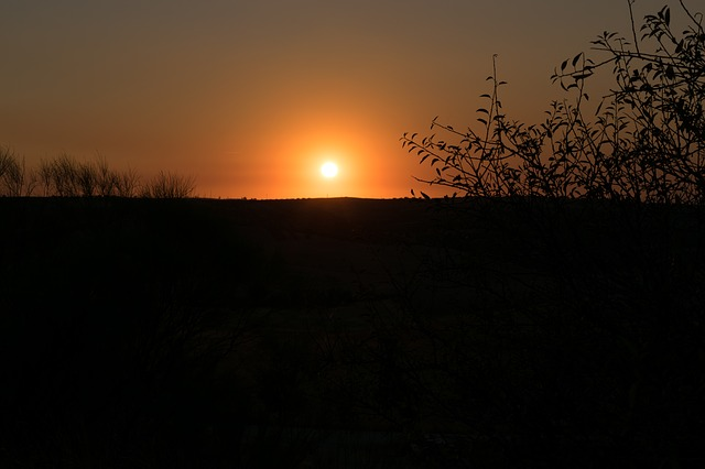 Sunset in Las Barrancas de Burujón