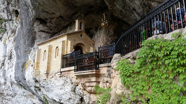 Santa Cueva de Covadonga routes of Asturias for hiking