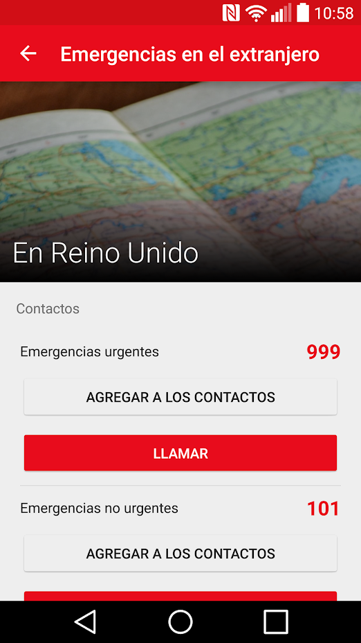 Primeros auxilios teléfonos