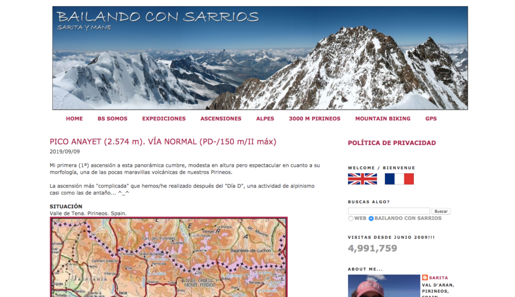 Bailando con Sarrios  hiking blog