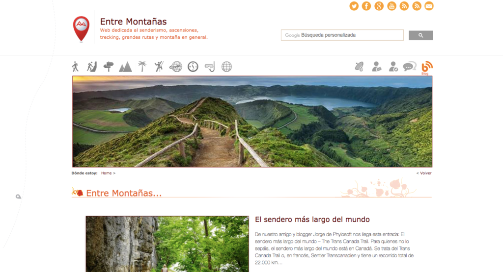 Blog de senderismo entre montañas