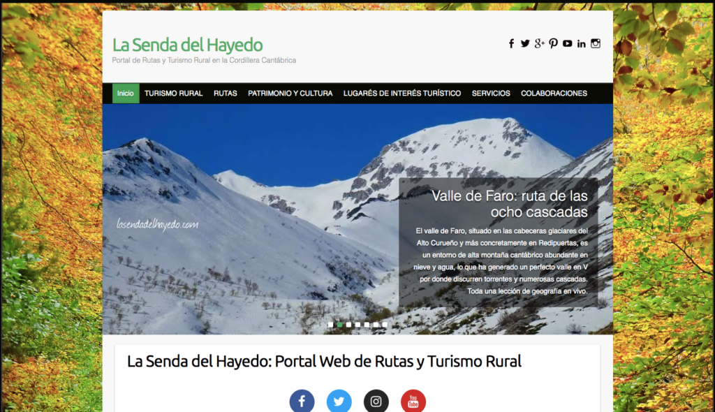 La Senda del Hayedo Hiking trails and Rural Tourism