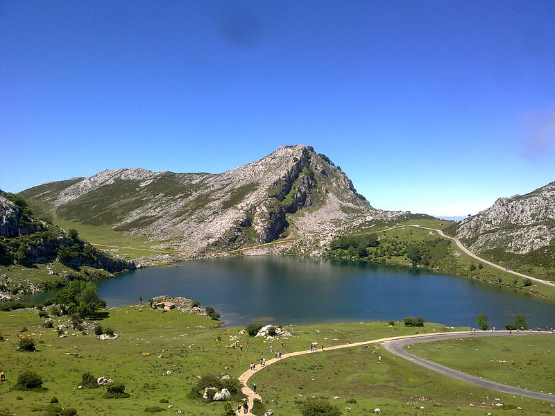 route of The  Covadonga lakes