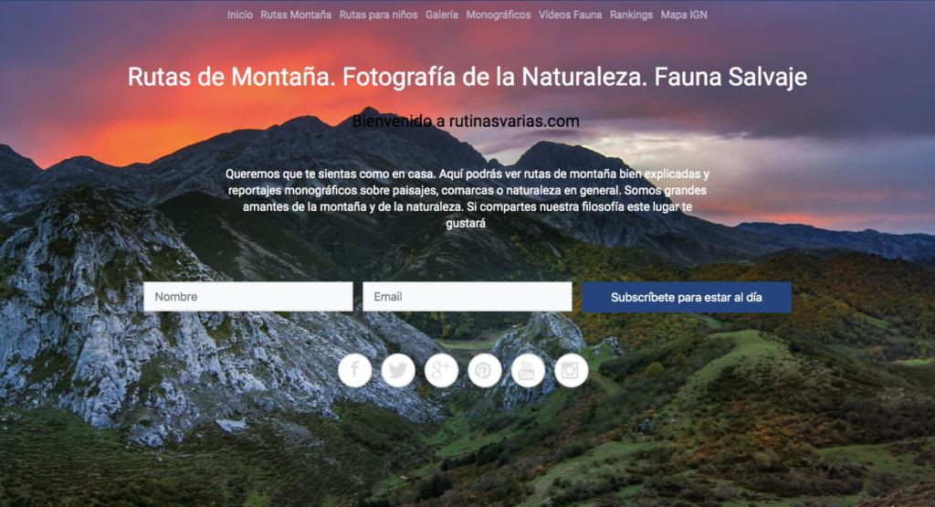Rutas de Montaña. Fotografía de la Naturaleza. Fauna Salvaje