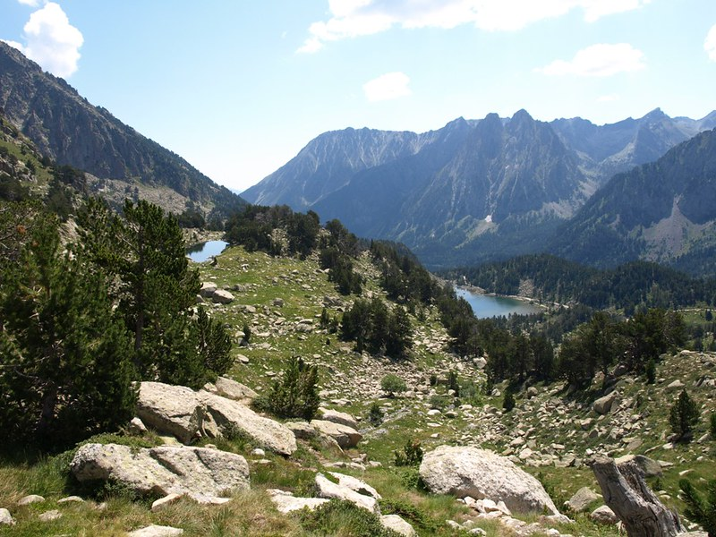 Senderos para trails por Aigüestortes