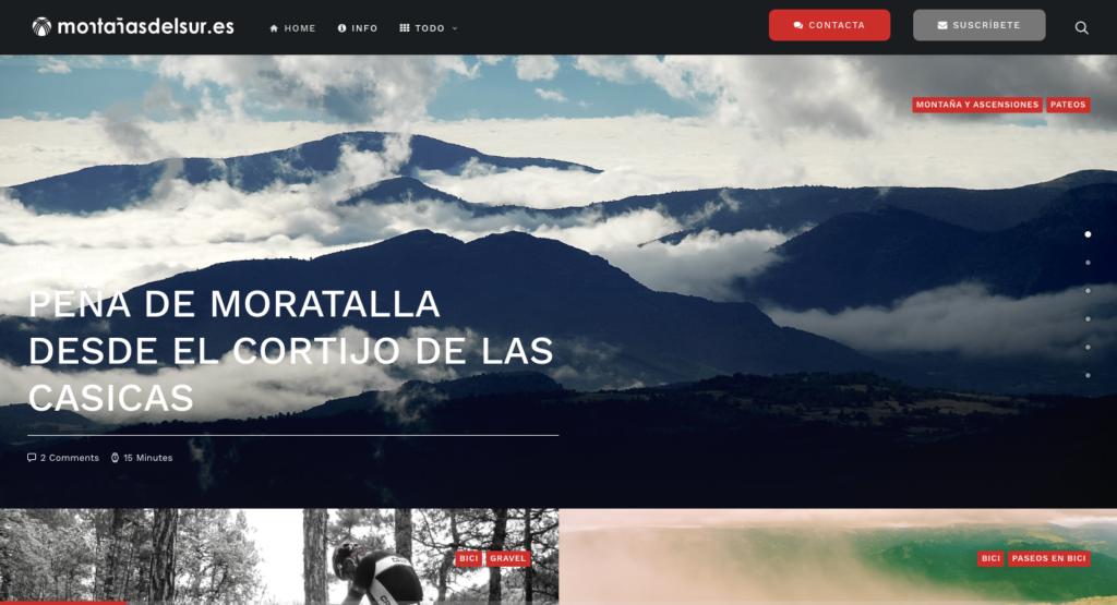 montaña  alpinismo  escalada y bici en las béticas