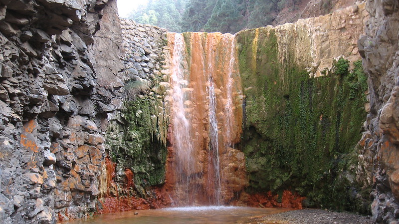 The Waterfall of Colors La Palma